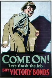 Come On! Let's Finish the Job, circa 1918, by Arthur Keelor. Archives of Ontario, I0016147.