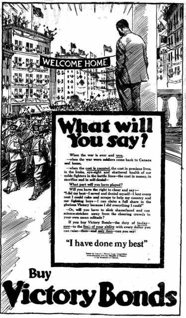 Toronto World, November 9, 1918.