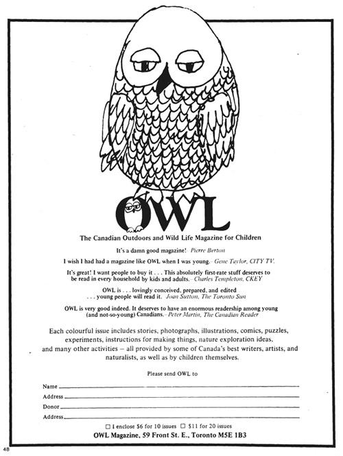 gm 1977-03-26 owl magazine ad