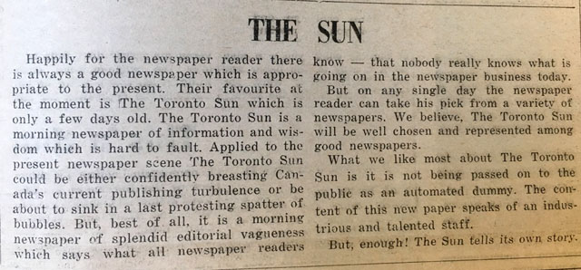 nth 1971-11-05 opinion about toronto sun