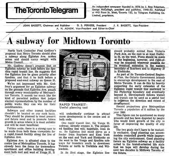 tely 71-10-26 editorial on eglinton subway