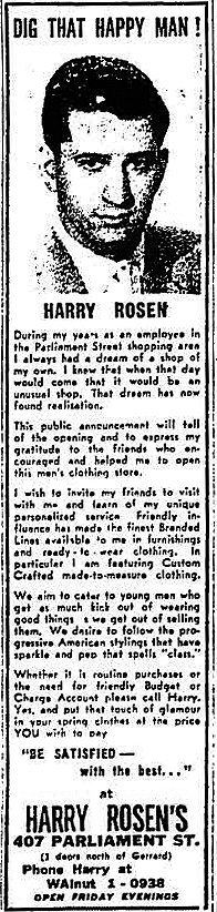 gm 1954-04-17 harry rosen ad