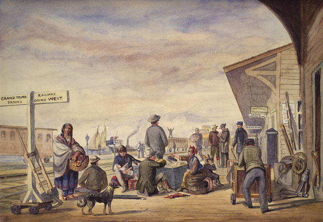 william armstrong painting of union station tpl jrr291