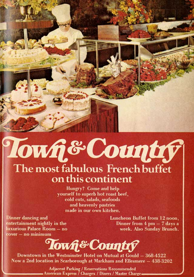 vintage toronto ads town country jamie bradburn s tales of toronto rh jamiebradburnwriting wordpress com country town buffet prices country town buffet prices