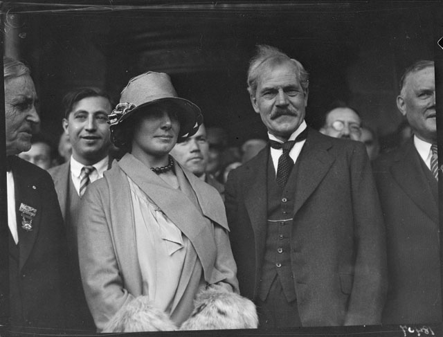 Ramsay MacDonald, Ishbel and Ramsay. - October 16, 1929