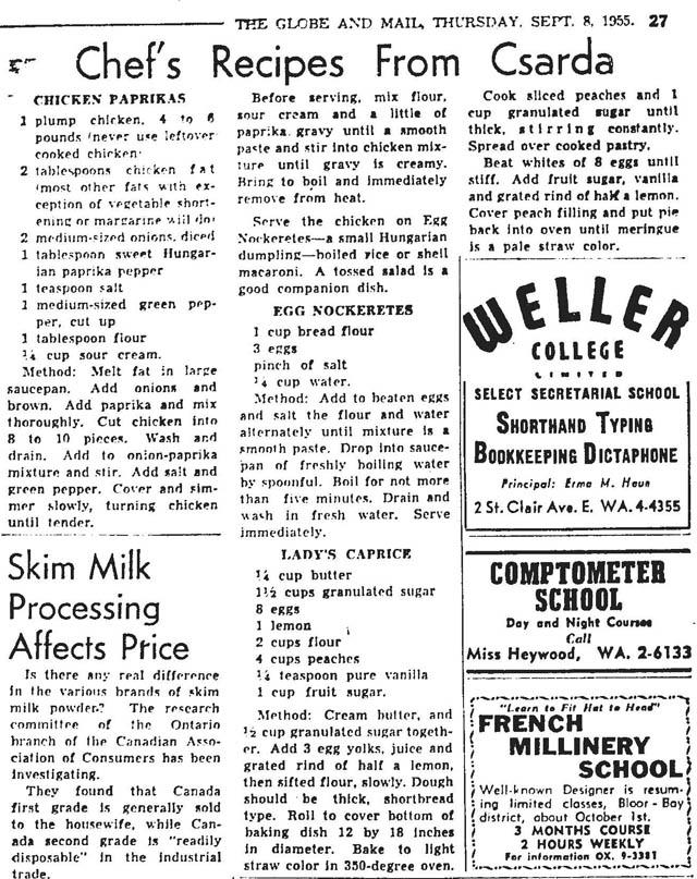 gm 1955-09-08 csarda recipes