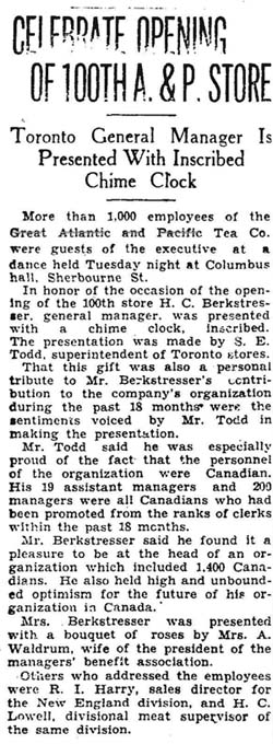 star 1930-01-16 opening of 100th store