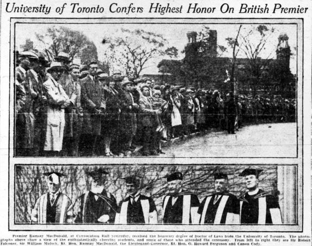 tely 1929-10-17 front page u of t photo id