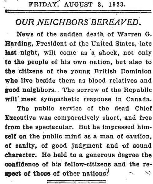 globe 1923-08-03 editorial