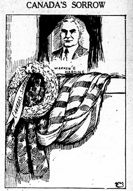 tely 1923-08-10 harding memorial cartoon