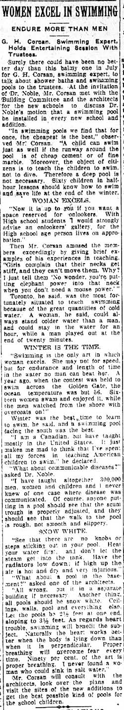 tely 1919-07-24 women excel in swimming