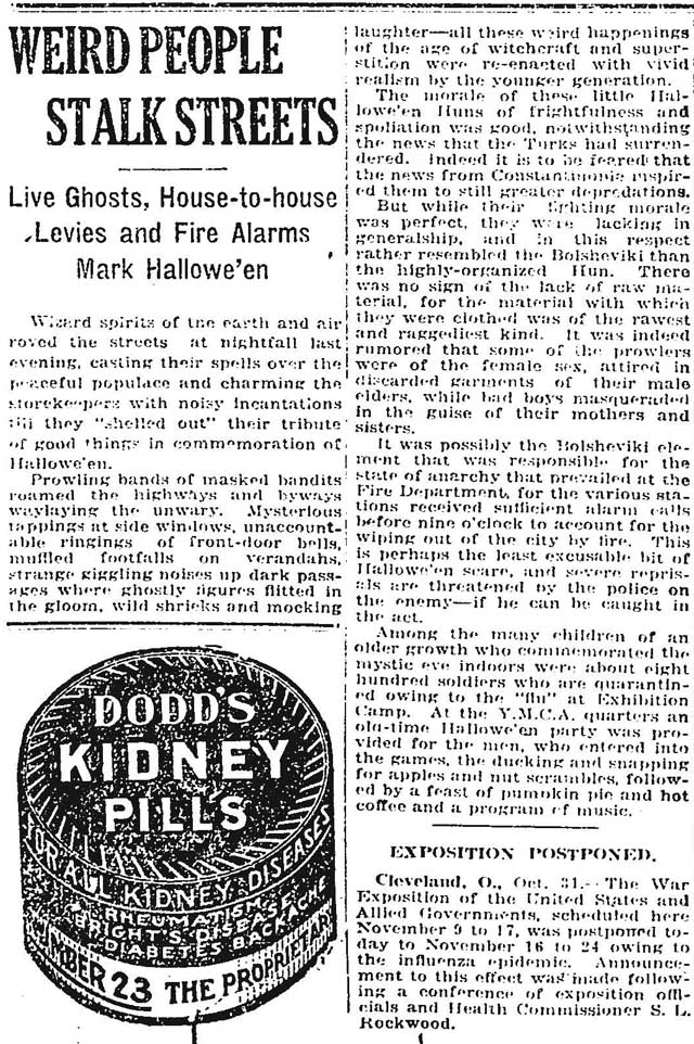 globe 1918-11-01 weird people stalk streets