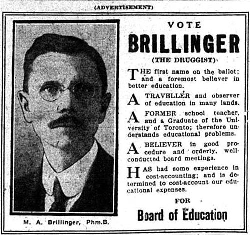 tely 1923-12-28 election ads brillinger the druggist