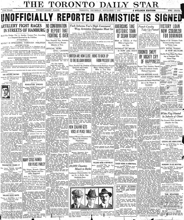 star 1918-11-07 front page