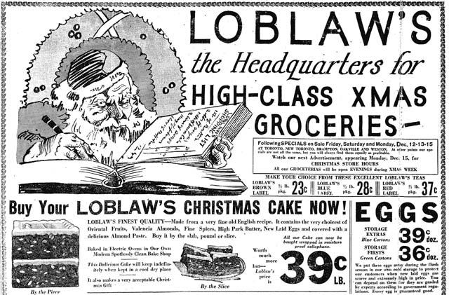star 1930-12-11 loblaws xmas ad