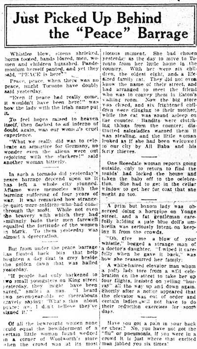 tely 1918-11-08 womens page on false alarm