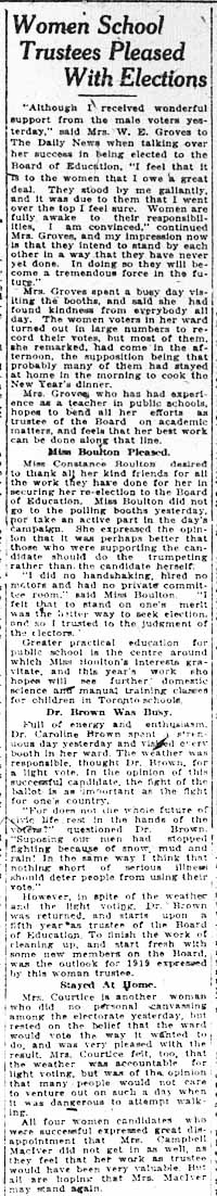 news 1919-01-02 female school board trustees