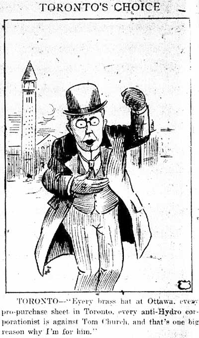 tely 1918-12-31 front page pro-church cartoon