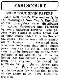 tely 1919-01-02 bolshevik pamphlets in earlscourt