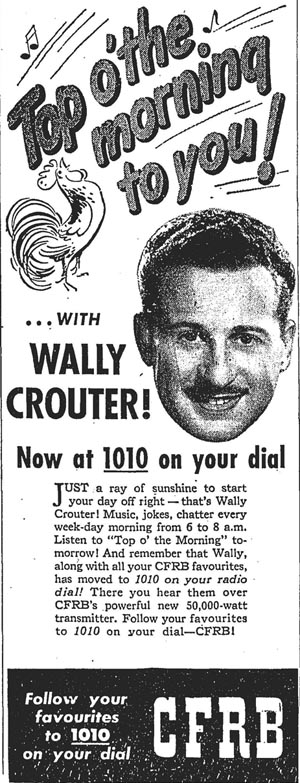 gm 1948-09-04 wally crouter cfrb ad