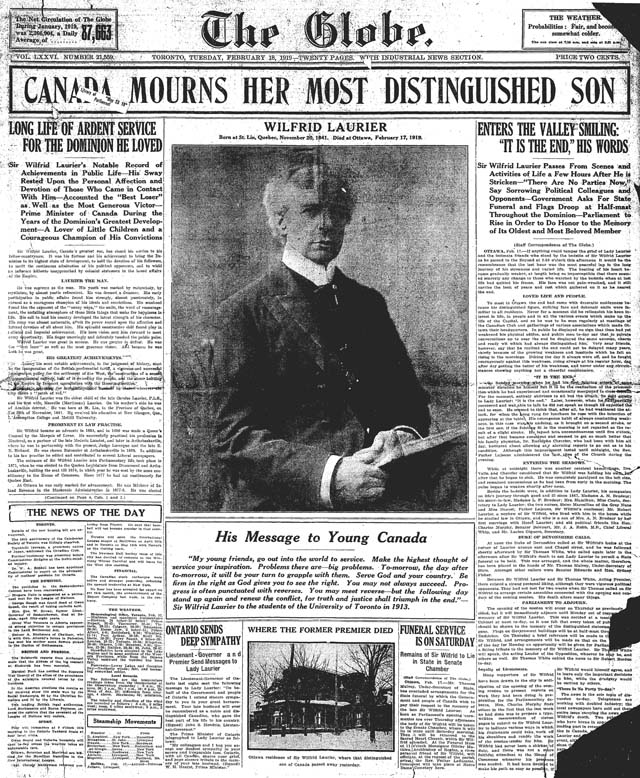 globe 1919-02-18 front page