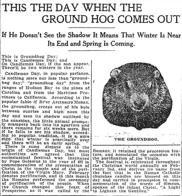 star 1912-02-02 groundhog day front page