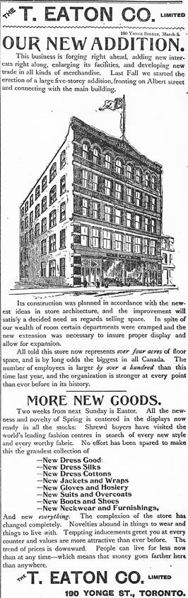globe 1894-03-05 eatons ad