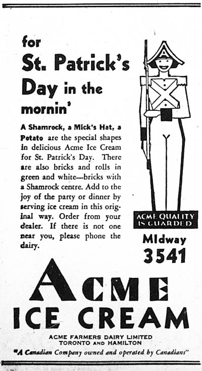 me 1933-03-16 acme st patricks ad