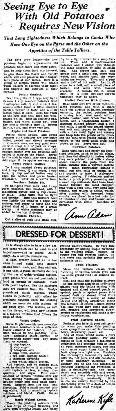 me 1933-03-21 potatoes and dressed for dessert