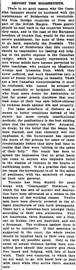 globe 1919-06-03 editorial
