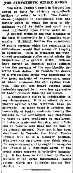 globe 1919-06-04 editorial