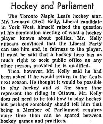 gm 1962-05-02 editorial on kelly balancing hockey and politics