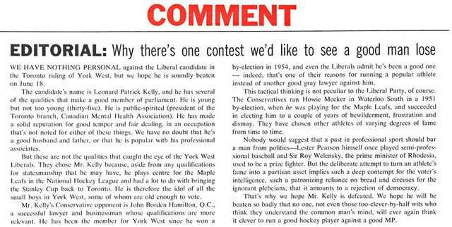 macleans 1962-06-02 anti-kelly editorial small