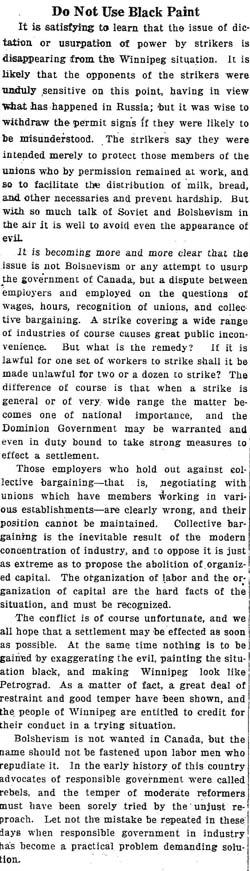 star 1919-05-23 editorial