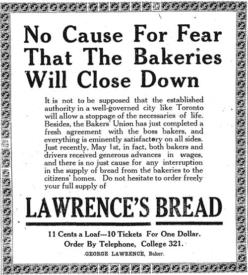 star 1919-05-28 lawrence bread ad about strikes