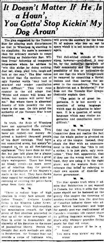 tely 1919-05-23 criticism of star coverage of wgs