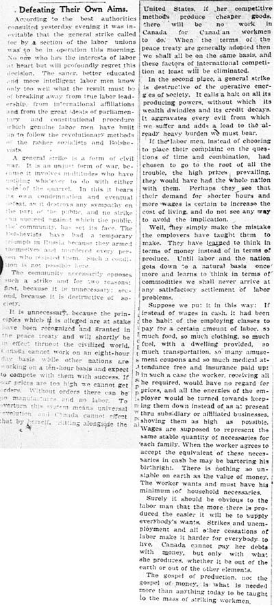 world 1919-05-28 editorial