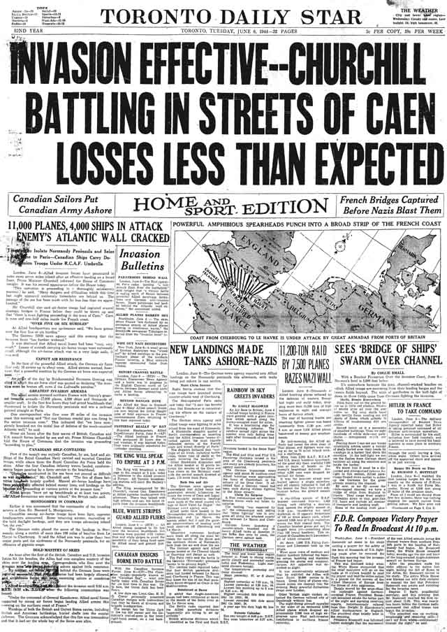 star 1944-06-06 front page