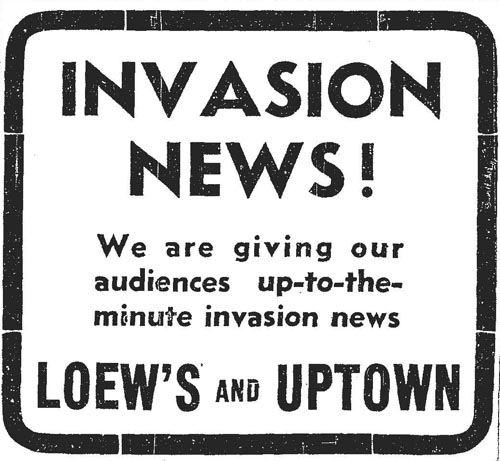 star 1944-06-06 page 19 invasion news at movie theatres