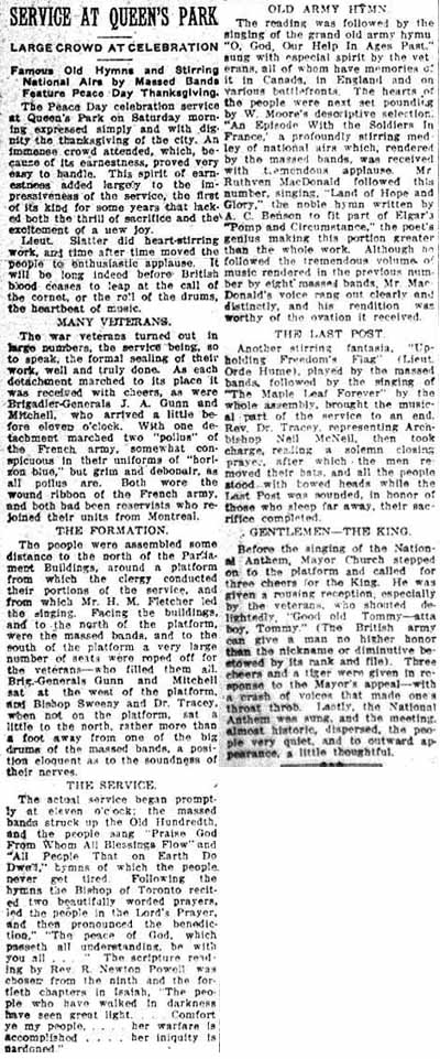 tely 1919-07-21 how toronto celebrated queens park