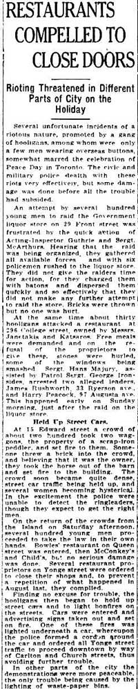 times 1919-07-21 restaurants compelled to close doors on peace day