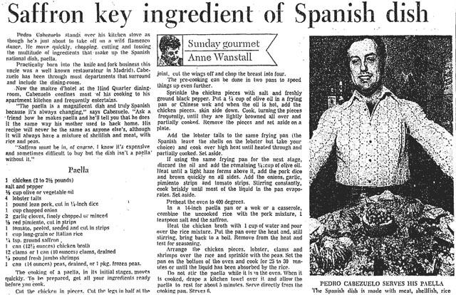 star 1972-10-14 pedro cabezuelo paella recipe