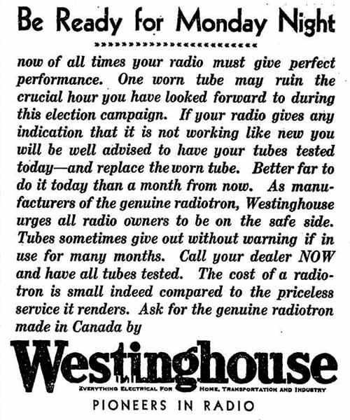 globe 30-07-26 westinghouse ad