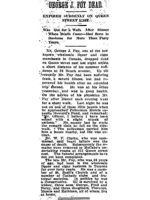 globe 1909-10-02 foy obit