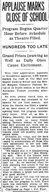 me 1933-04-08 applause marks close of cooking school 1