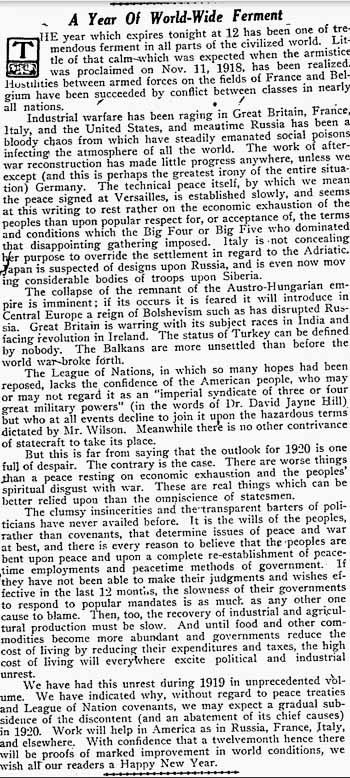 pittsburgh press 1919-12-31 editorial