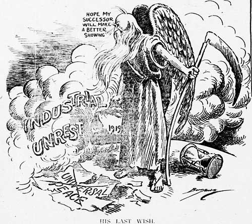 washington star 1919-12-31 front page cartoon
