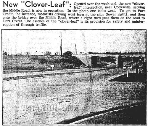 gm 1937-11-23 new cloveleaf interchange at cooksville opens