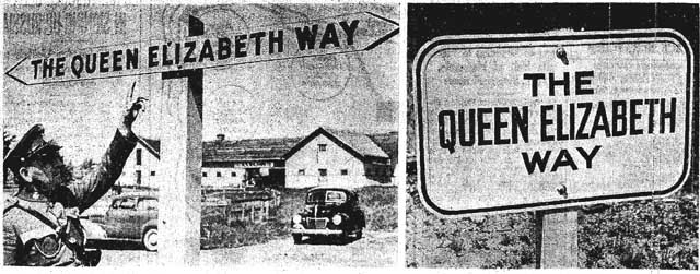 star 1939-06-05 signs erected for qew