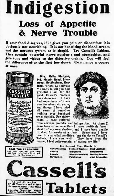 sydney morning herald 1926-11-08 dr cassell ad